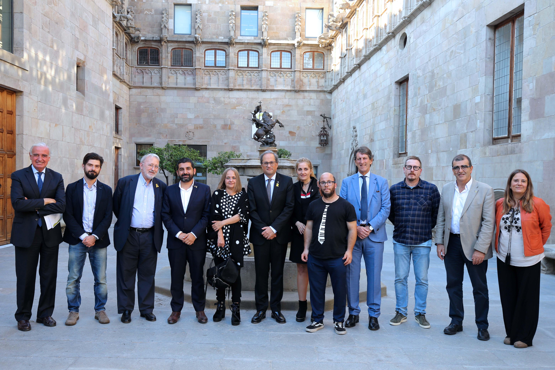 L'AEES Dincat i la Federació Dincat es reuneixen amb el President de la Generalitat